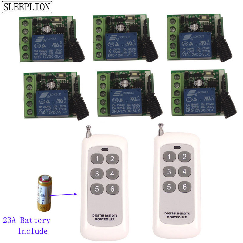 12V 1CH Relay Smart Wireless Remote Control Light Switch Transmitter 6 Receiver-1 (1)