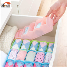 CUSHAWFAMILY New Arrival multi-purpose Storage Box Underwear Bra Socks Tie Organizer Divider Boxes Closet organizers With Cover(China)