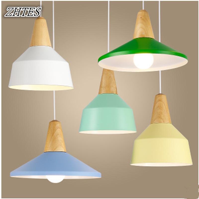 Modern Minimalist Creative Color Aluminum Chandelier Bar Bedroom Cafe Single Head Restaurant Lights<br>