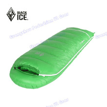 Black Ice Winter  600 grams Children white goose down high quality  sleeping bag