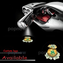 Auto LED Car Door Logo 2nd Gen Light US Dollar Money $ Laser Projector Ghost Shadow Lamp - Gift #5365*4