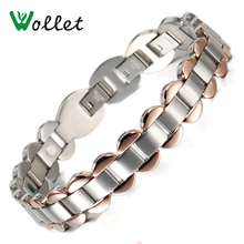 2015 Gift For Women Bracelets High Polished Infrared Tourmaline Germanium Ion Stainless Steel Health Care Bracelet