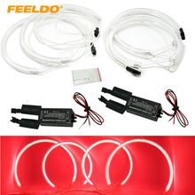 2X165mm 2X127.5mm Red Car CCFL Halo Rings Angel Eyes LED Headlights for BMW X5(E53) Light Kits #FD-3899(China)