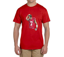 Cool printing Colin Kaepernick Kissing on the arm 100% cotton t shirts Mens gift T-shirts for 49ers fans 0214-12(China)