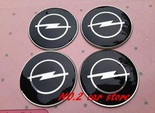 4pcs 65mm Opel car emblem Wheel Center Hub Caps wheel Badge covers sticker Accessories Free shipping(China)