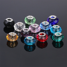 free shipping 10pcs european Section 96 crystal glass big hole Bead only with 925 logo Fits European Pandor Charm Bracelets A223