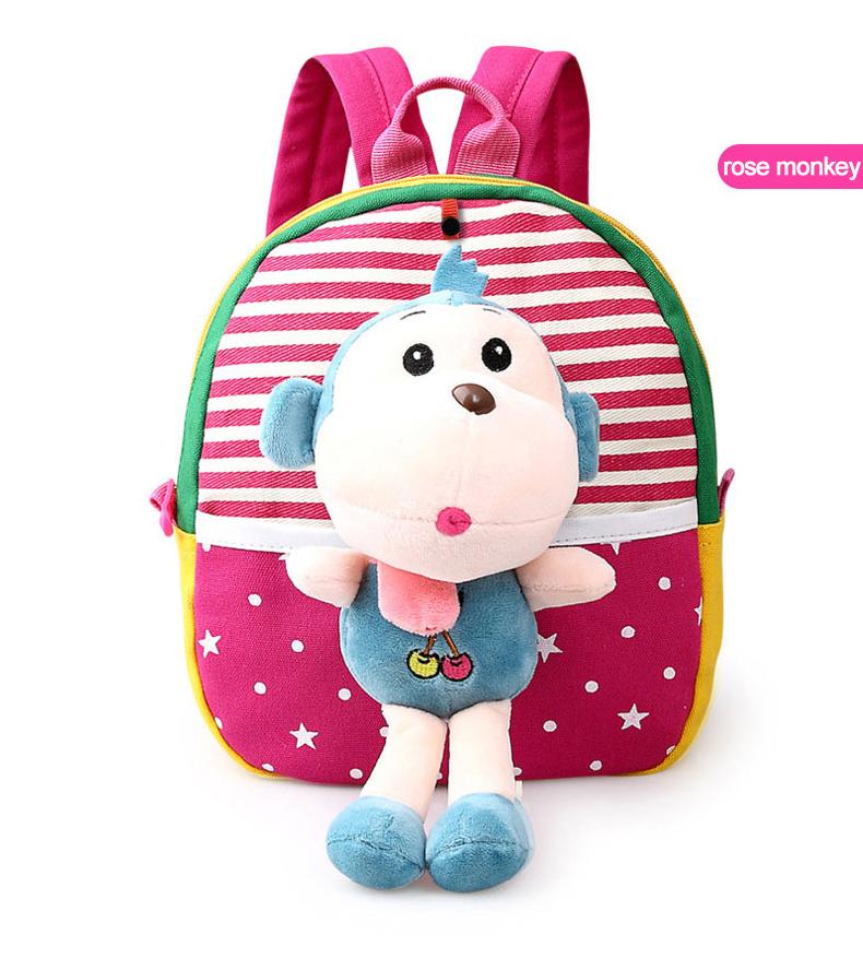 Korean Style Children Toddler Cartoon Stuffed Plush Backpacks baby girls boys cute toys schoolbag backpack (16)