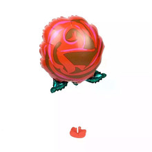 1 piece  rose balloons party balloons wedding balloons wholesale 30*50cm love balloons(not include the stander)