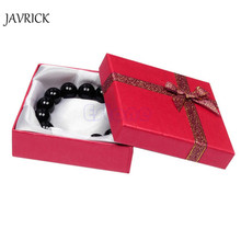 Jewelry Box Bangle Jewelry Ring Earring Watch Gift Carton Box Bowknot Case Package makeup organizer Carring Case