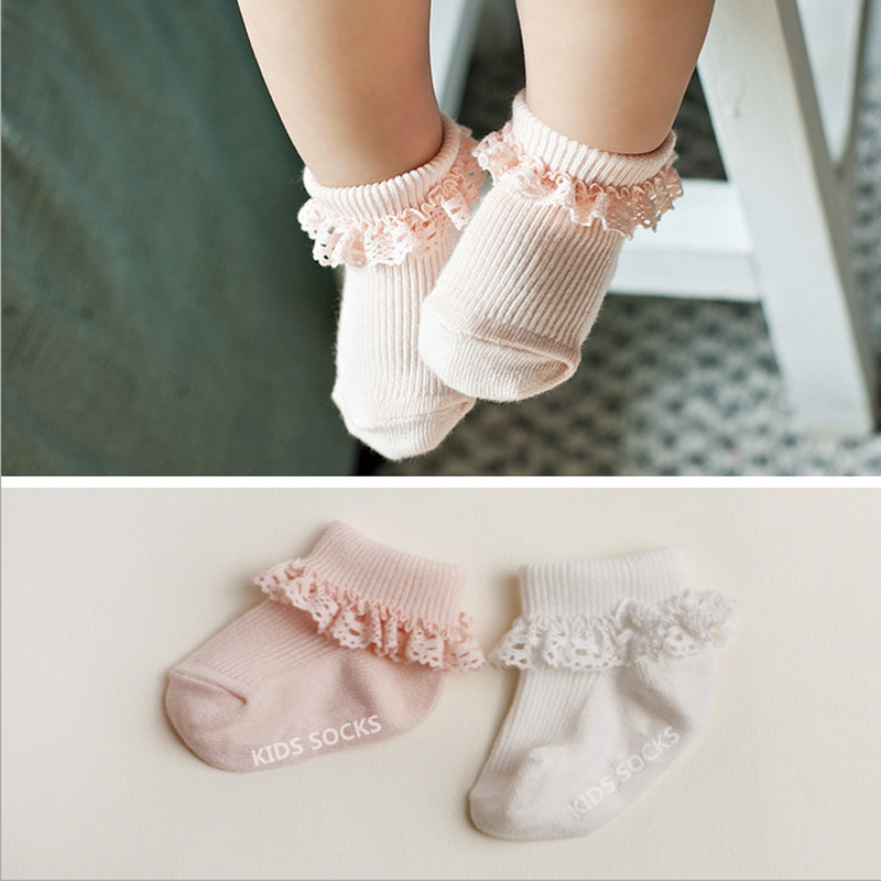 3 Pairs Girls Cotton White Soft Lace Top Frilly Ankle Baby Socks School Ladies