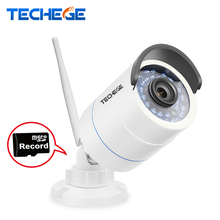 Techege 1280*720P WIFI IP Camera HD 1.0MP Auido record Waterproof Night Vision Outdoor TF Card Slot CCTV Camera Motion Detection