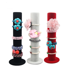 2017` Hot Selling 1pcs/lot Bracelet / Hair accessory Velvet Display Storage jewelry display organizer stand holder Free shipping(China)