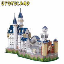 UTOYSLAND 3D Ravensburger Puzzle New Swan Stone Castle Building Model Kit Jigsaw Games As New Year Christmas Gift