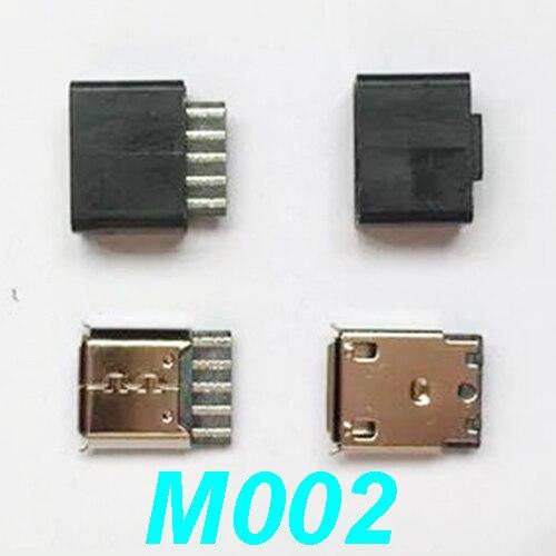 10Pcs Micro USB Type B Female Socket 4 Vertical Legs fixed Solder Connectors New