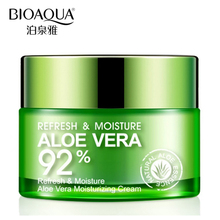 BIOAQUA Brand Skin Care Serum Aloe Vera Gel Deep Hydrating Moisturizing Whitening Face Cream Anti-Aging Day Cream Face Mask 50g