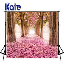 Buy KATE Photo Background Spring Scenery Backdrop Pink Forest Photography Backdrops Naturism Children Photos Floral Wedding Photos for $36.09 in AliExpress store