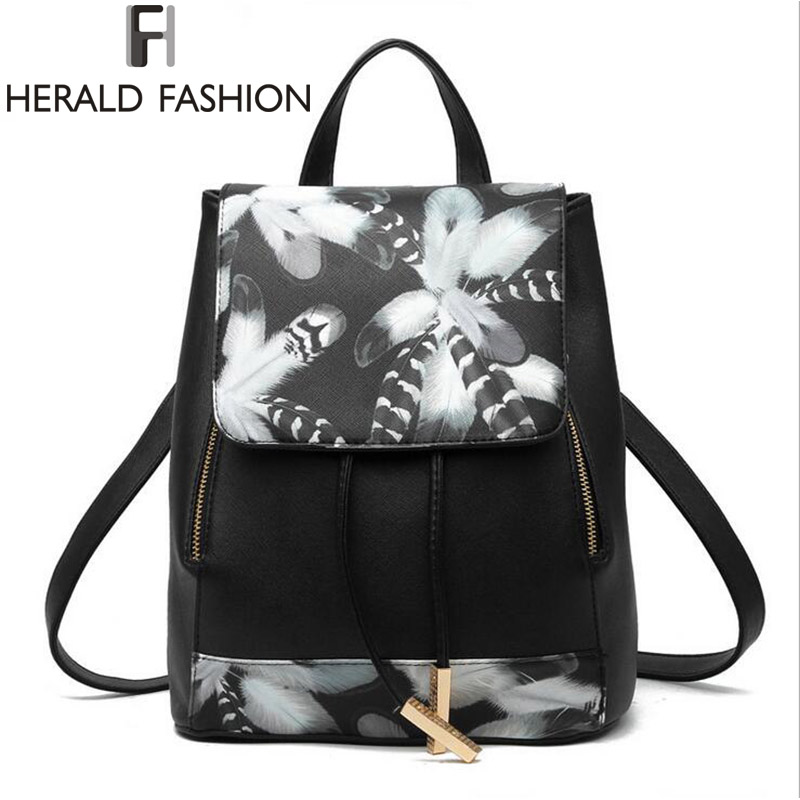 New Design PU Leather Women Backpack School Bags Students Backpacks Ladies Women Travel Bags Package 2017 Herald Fashion Mochila<br><br>Aliexpress