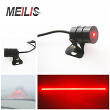 Newest Anti Collision Rear-end Car Laser Tail Fog Light Auto Brake Parking Lamp Rearing Auto Brake Warning Light car styling