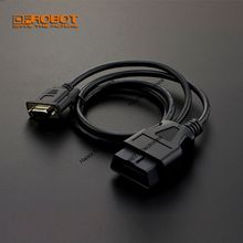 DFRobot High Quality OBD 2 16Pin to DB9 Serial Port RS232 Adapter Cable, 110cm for ECU (car engine control unit)