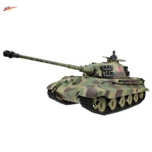 RC Tank 2.4G 1/16 German King Tiger Henschel Turret Airsoft RC Battle Tank with BB + Smoking + Sounding Effect Tank Model