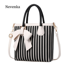 Nevenka Women Bag PU Leather Striped Crossbody Bags Lady Shoulder Bag Original Design Handbags Colorful Evening Bags Brand Tote