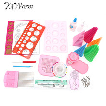 Kiwarm Paper Quilling Rolling DIY Craft Tool Full Kit Quilling Work Board Mould Needles Grid Guide New For Home Handmade Tools