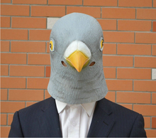 Hot Gray Creepy dove Mask Head for Halloween Party Decorations Costume Theater Prop Novelty Latex Rubber Perfect Looking 20pcs(China)