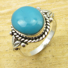 Turquoises Ring Size 6 ! Silver Plated Jewelry December Birthstone ONLINE STORE