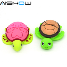 100% Genuine USB Flash Drive cartoon Tortoise Turtle memory stick cool pen drive 8GB pendrive gift(China)
