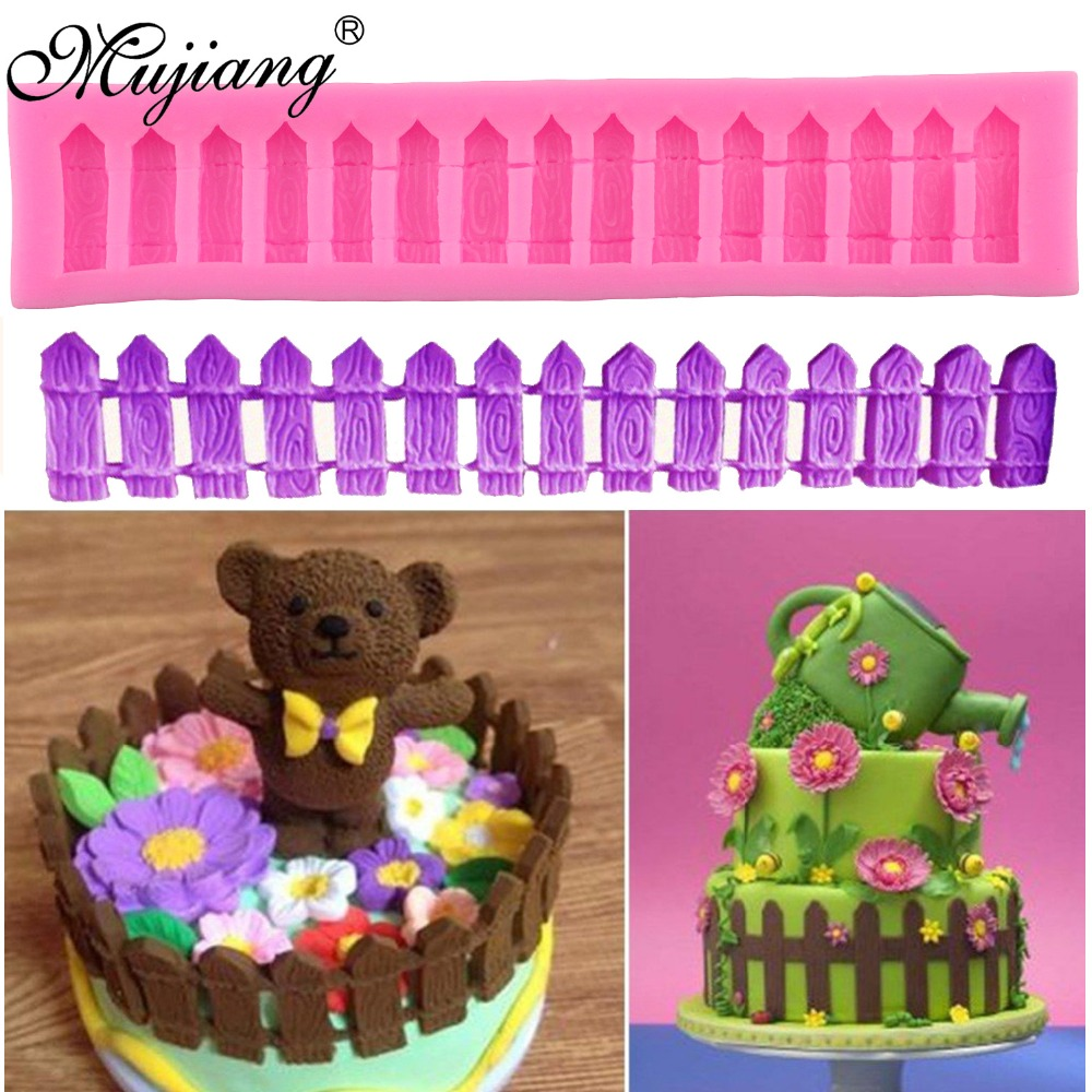 Mujiang Fence Posts Silicone Lace Molds Fondant Cake Decorating Tools Gumpaste Cupcake Chocolate Candy Mold Kitchen Baking Mould(China)