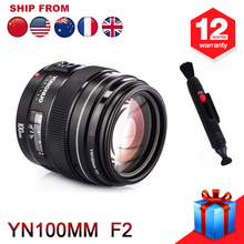 Yongnuo YN100m F2 Medium Telephoto Prime Lens For Nikon D7200 D7100 D7000 D5600 D5300 D5200 D5100 D3400 + Free Cleaning Pen(Hong Kong,China)