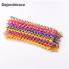 Dejorchicoco Colorful Kids Grils Headbands Crystal Long Elastic Hair Bands Hairwear Children Gift Hairbands Kids Hair Wear(China)