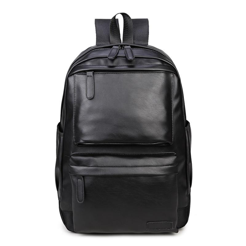 2017 High Quality PU Leather Backpacks Unisex Vintage Style Men Casual Bag Large Capacity Fashion Women Rucksack mochila XA47YZ<br><br>Aliexpress