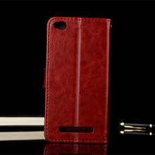 Luxury Brand Genuine Leather Case Cover for Xiaomi Redmi 4A Case Cover Card Pocket Wallet Flip for Xiaomi Redmi 4A Cover TPU(China)