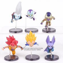 Dragon Ball Z The Historical Characters Vol.1 6pcs/set Whis Beerus Goku Black Vegeta Frieza PVC Figures Toys(China)