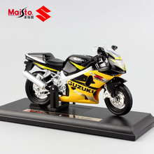 1/18 scale mini SUZUKI GSX R600 motorbike metal diecast model motorcycle kids auto toys race collection cars for boys with base