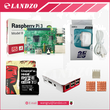 A Raspberry Pi 3 Starter Kit -pi 3 board/Original Official case/American standard power supply/16 G memory card/ logo heat sink
