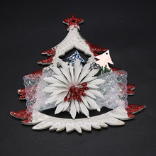 HENGHOME 1pc White Christmas Tree Hollow Ornaments Party Christmas Xmas Tree Home Decorations 18*18cm