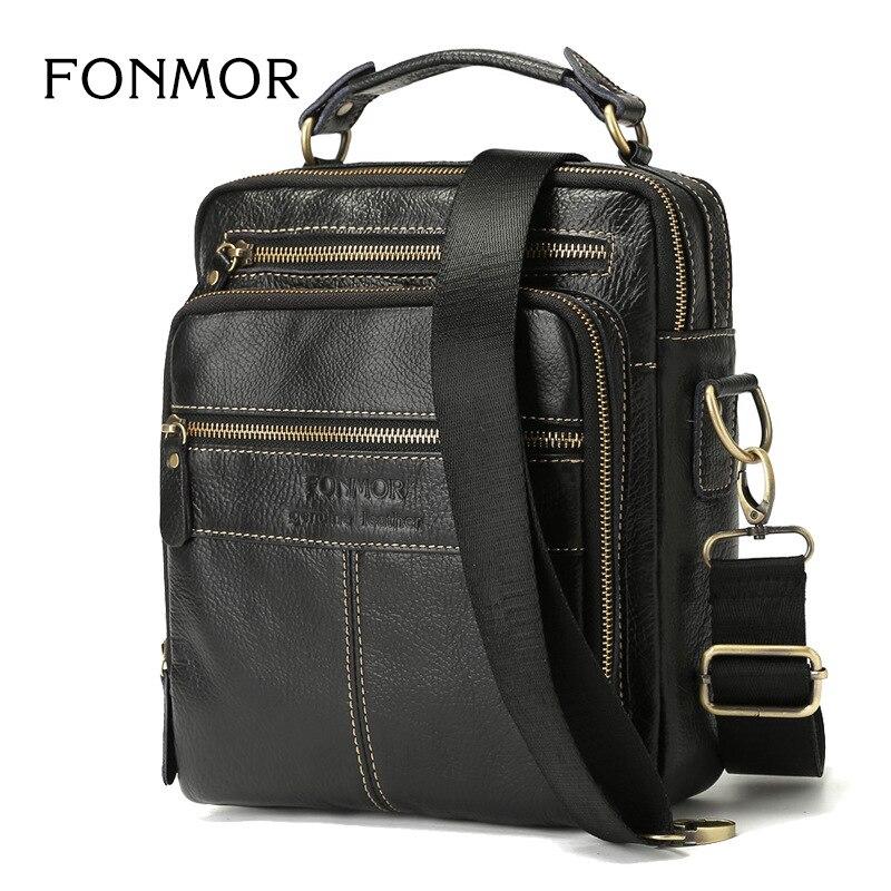 New Arrival Genuine Leather Messenger Bags For Men Shoulder Bag Business Casual Mens hand Bag Top Quality Travel Bag Male Bolsa<br>