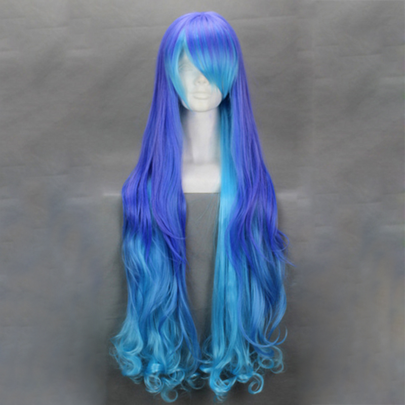 HAIRJOY Anime Vocaloid Series Anti the Infin . Holic Luka Mix Blue Cosplay Wig Harajuku Gradient Long Wavy Costume Wig<br><br>Aliexpress