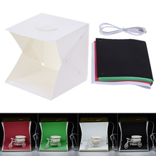 Foldable Photography Lightbox Studio Soft Box Light Tent with Four Backdrops for Canon Nikon Sony DSLR Digital Camera Smartphone