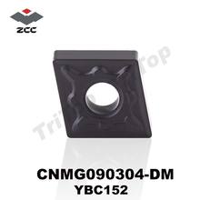 10pcs/lot  hot sell ZCC.CT YBC152 CNMG090304 DM tungsten carbide turning inserts CVD coating cnc cutting tool for steel
