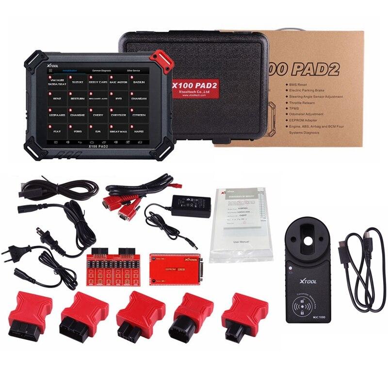 100-Original-XTOOL-X100-PAD2-With-KC100-Auto-Key-Programmer-EPB-EPS-OBD2-Odometer-Multidiag-Languages