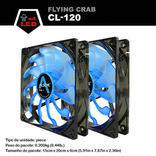 ALSEYE 120mm LED fan for computer case and cpu cooler (2pieces) 1800RPM 3pin dc 12v fan cooling radiator Blue and Red available