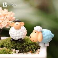 Cute Mini Cartoon Sheep Home Decor Fairy Garden Miniature Ornaments Anime Action Figure Toys Diy Aquarium
