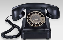 New arrival fashion antique vintage old fashioned rotary wired home phone(China)