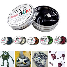 Magnetic Mud Ferrofluid Handgum Hand Gum Silly Magnetic Plasticine Magnet Clay Playdough Awesome Novelty Education Toys 6 Color