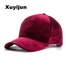Xuyijun Baseball Caps with no embroidery strap Simple Suede back cap and hat for men and women's hat on white 6 colors(China)