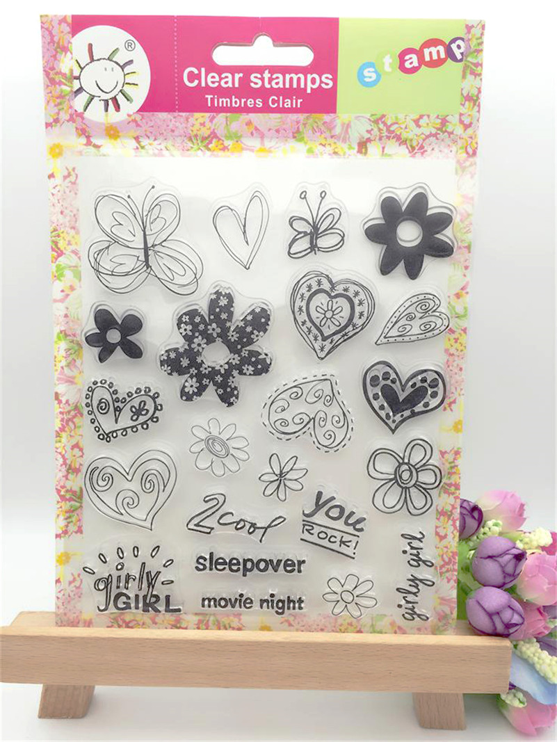 New arrival stencil diy scrapbooking clear stamploving heart deisng for wedding paper card christmas gift CL-190<br><br>Aliexpress