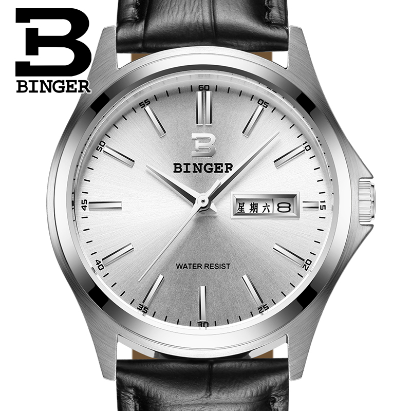 2017 Switzerland luxury watch men BINGER brand quartz full stainless Wristwatches Waterproof Complete Calendar Guarantee B3052B3<br><br>Aliexpress